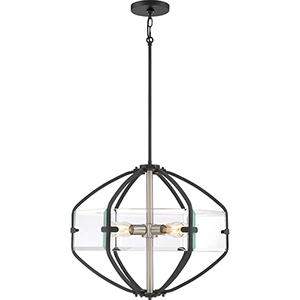 Vessel Earth Black Four-Light Pendant