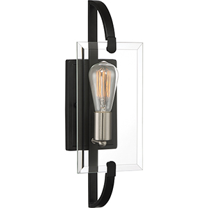 Vessel Earth Black One-Light Wall Sconce