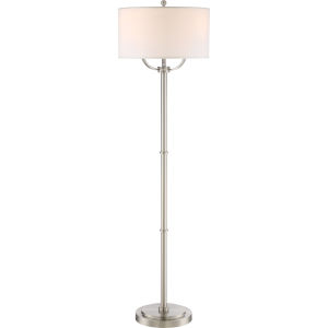 Vivid Collection Broadway Brushed Nickel 17-Inch Three-Light Floor Lamp
