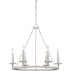 Voyager Brushed Nickel Six-Light Chandelier