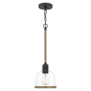 Wagner Matte Black One-Light Mini Pendant