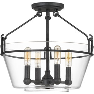 Wells Gray Ash Four-Light Semi-Flush Mount