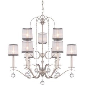 Whitney Imperial Silver Nine-Light Chandelier
