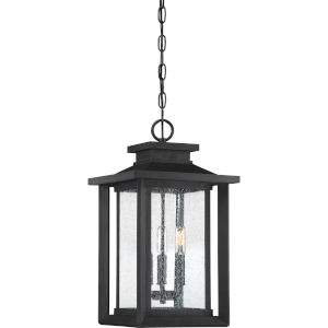 Wakefield Earth Black Three-Light Outdoor Pendant