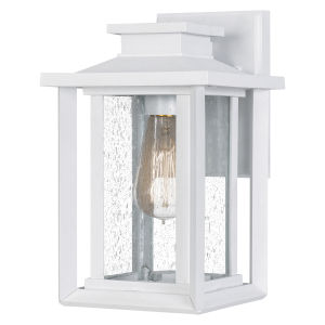 Wakefield White Lustre Seven-Inch One-Light Outdoor Wall Mount