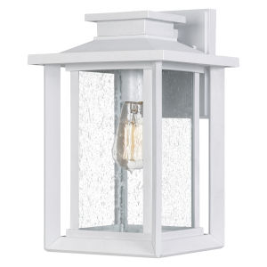 Wakefield White Lustre Nine-Inch One-Light Outdoor Wall Mount