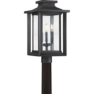 Wakefield Earth Black Three-Light Outdoor Post Mount
