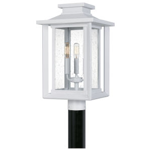 Wakefield White Lustre Three-Light Outdoor Post
