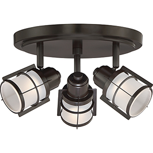 Winside Western Bronze LED Semi Flush Mount
