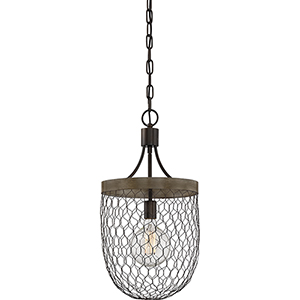 Willowstone Classic Grey and Wood One-Light Pendant