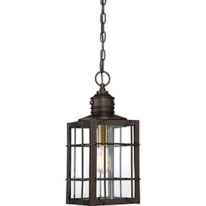 West Oak Western Bronze One-Light Outdoor Pendant