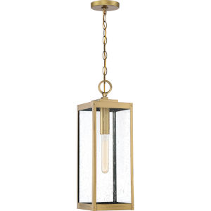 Westover Antique Brass One-Light Outdoor Pendant
