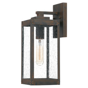 Westover Industrial Bronze Five-Inch One-Light Outdoor Wall Mount
