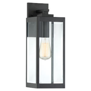 Westover Earth Black 17-Inch One-Light Outdoor Wall Sconce