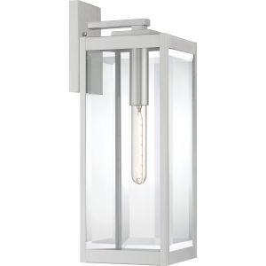 Westover Stainless Steel 20-Inch One-Light Outdoor Lantern with Clear Beveled Glass