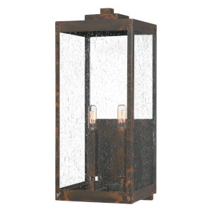 Westover Industrial Bronze Two-Light Outdoor Wall Mount