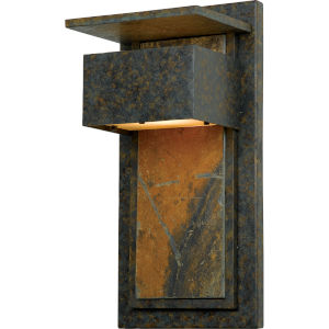 Zephyr Muted Bronze Outdoor Wall Mount