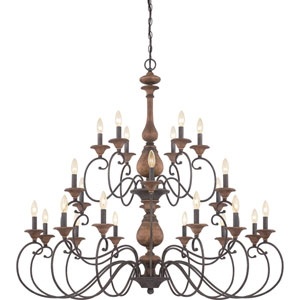 Auburn Rustic Black Twenty-Four-Light Chandelier