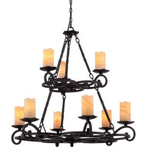 Armelle Imperial Bronze Nine-Light Chandelier
