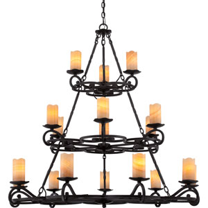 Armelle Imperial Bronze Eighteen-Light Chandelier