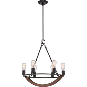 Anchor Imperial Bronze Six-Light Chandelier