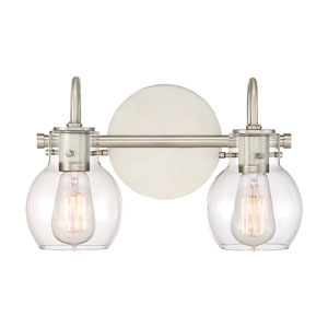 Andrews Antique Nickel Two-Light Bath Light