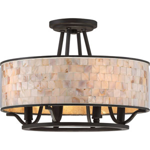 Aristocrat Palladian Bronze Four-Light Semi Flush Mount