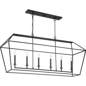 Aviary Palladian Bronze 54-Inch Six-Light Island Pendant