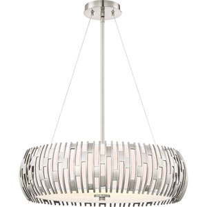Brigade Antique Polished Nickel 22-Inch Four-Light Pendant