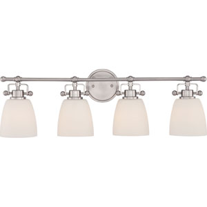 Bower Brushed Nickel Four-Light Vanity Fixture