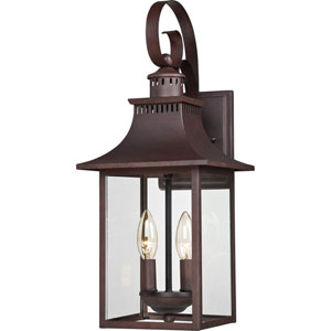 Chancellor Copper Bronze 19-Inch Two-Light Outdoor Fixture