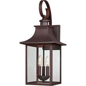 Chancellor Copper Bronze 23.5-Inch Three-Light Outdoor Fixture