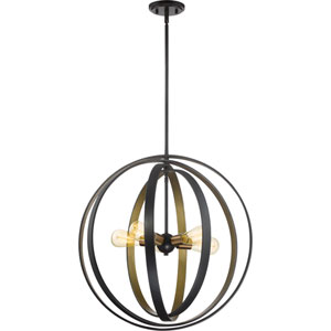 Circuit Western Bronze 24-Inch Five-Light Pendant