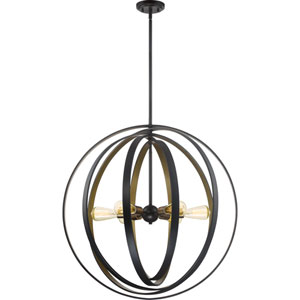 Circuit Western Bronze 30-Inch Six-Light Pendant