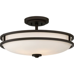 Cadet Old Bronze 19-Inch Four-Light Semi-Flush Mount