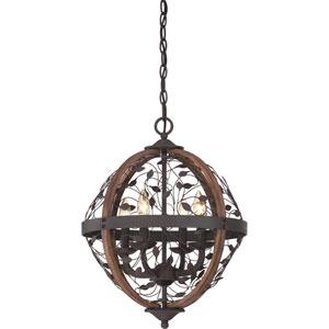 Chamber Darkest Bronze Sixteen-Inch Pendant
