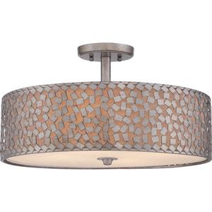 Confetti Old Silver Four-Light Semi Flush Mount