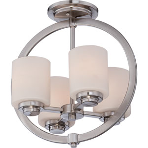 Celestial Brushed Nickel Four Light Semi-Flush Mount