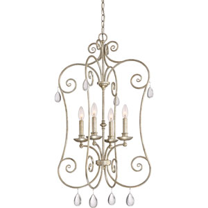 Chantelle Vintage Gold 21-Inch Four-Light Pendant