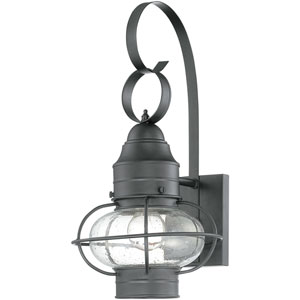 Cooper Mystic Black Nine-Inch Outdoor Wall Sconce