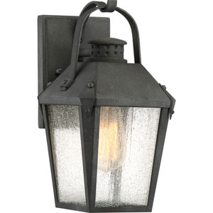 Carriage Mottled Black 6-Inch One-Light Outdoor Wall Lantern