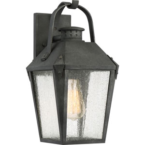 Carriage Mottled Black 8-Inch One-Light Outdoor Wall Lantern