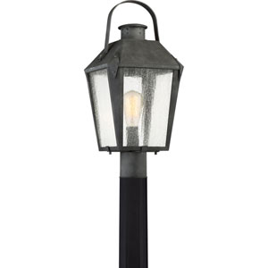 Carriage Mottled Black 10-Inch One-Light Outdoor Post Lantern