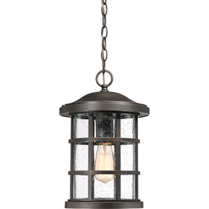 Crusade Palladian Bronze 10-Inch One-Light Outdoor Hanging Lantern
