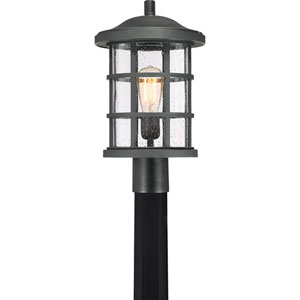 Crusade Earth Black 10-Inch One-Light Outdoor Post Lantern