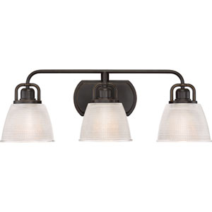 Dublin Palladian Bronze 25-Inch Three-Light Bath Light
