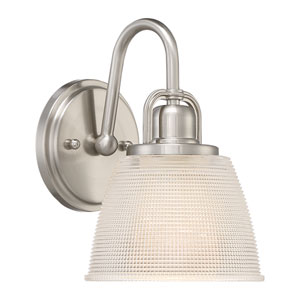 Dublin Brushed Nickel 7-Inch One-Light Bath Light