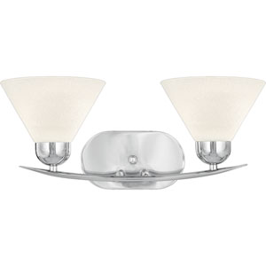 Demitri Two-Light Polished Chrome Bath Fixture