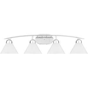 Demitri Polished Chrome Four-Light Bath Fixture