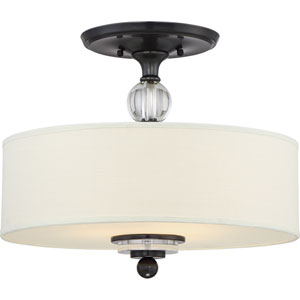 Downtown Dusk Bronze Three-Light Semi Flush Mount
